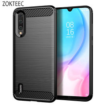 ZOKTEEC High quality Silicone Case For Xiaomi CC9E ShockProof Fitted Carbon Fiber Soft TPU Phone Cover