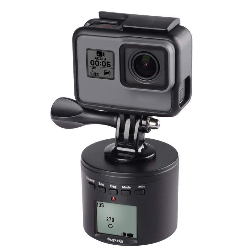 For Dji Osmo Action Time Lapse tripod mount Smart Electric Panning Rotating For Go Pro 8 insta 360 ONE X xiaoyi 4k 2 Accessory image