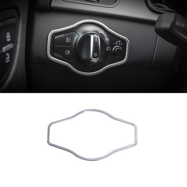 SRXTZM ze stali nierdzewnej przełącznik reflektorów przyciski dekoracyjna osłona ramy wykończenia dla Audi A4 A4L B8 S4 RS4 A5 S5 RS5 akcesoria samochodowe