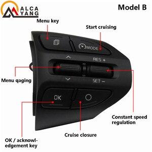 Image 4 - Tasto al Volante Per KIA K2 RIO 2017 2018 2019 RIO X LINEA Bottoni Bluetooth Del Telefono di Controllo di Crociera Del Volume.