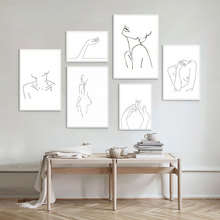 Nordic Draw Line Canvas Painting Wall Art Face Couple Abstract Painting Posters And Prints Wall Pictures For Living Room Decor abstract minimalist sexy line woman wall art canvas painting nordic posters and prints wall pictures for living room home decor