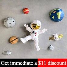 Pré-corte espaço planeta astronauta decoração da parede sistema solar decoração modelo de papel, 3d papercraft, artesanal diy adulto artesanato brinquedo rty049