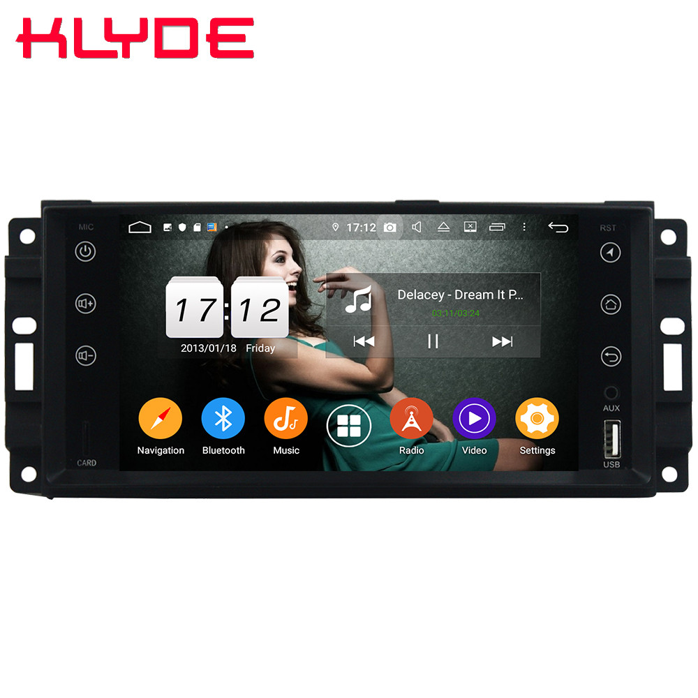 Klyde 4G Android 9 Octa Core 4GB+64GB DSP Car DVD Player Radio For <font><b>Chrysler</b></font> <font><b>300C</b></font> Cirrus Sebring/Dodge Dura Challenger RAM 1500 image