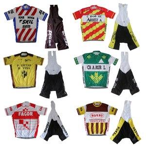 Image 1 - Мужской комплект одежды для велоспорта, шорты с коротким рукавом и гелевой подкладкой, комплект одежды для велоспорта, 2019