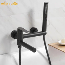 Black Bathtub Tap Shower-Faucet Cold Hot And