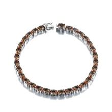 Bracelet en argent Sterling pour femmes, bijoux fins, Bracelet en Zultanite S925, créé 30 Carats, pour mariage