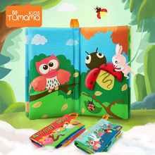 Infant Baby Cloth Books Early Learning Educational Toys with Animals Wing Soft Cloth Development Books Baby Rattles jouet bebe