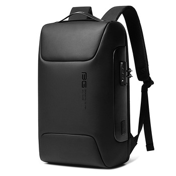 BANGE New Anti Thief Backpack Fits for 15.6 inch Laptop Backpack Multifunctional Backpack WaterProof for Business Shoulder Bags - Black, 47 x 30 x 16cm