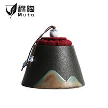 Ceramiczne naczynie na herbatę Caddy odporne na wilgoć do kuchni do jedzenia zamknięty zbiornik przenośne opakowanie prezent pudełko kanister słoik na przyprawy małe tanie tanio NoEnName_Null CN (pochodzenie) Porcelany