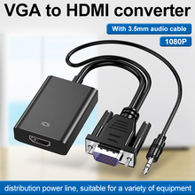 VGA Male to HDMI Female Adapter Converter Cable With 3.5 mm Audio Output 1080P VGA to HDMI for PC laptop to HDTV Projector ps4 1 4m banana pro vga to vga cable 3 5 hdb 15pin male to male vga extension cable for xbox ps3 ps4 hdtv pc laptop dvd