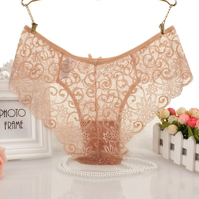 Fashion Women's Panties Transparent Underwear Women Lace Soft Briefs Sexy Lingerie 1