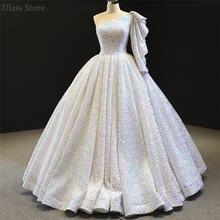 Роскошное женское бальное платье на одно плечо 2020 вечернее