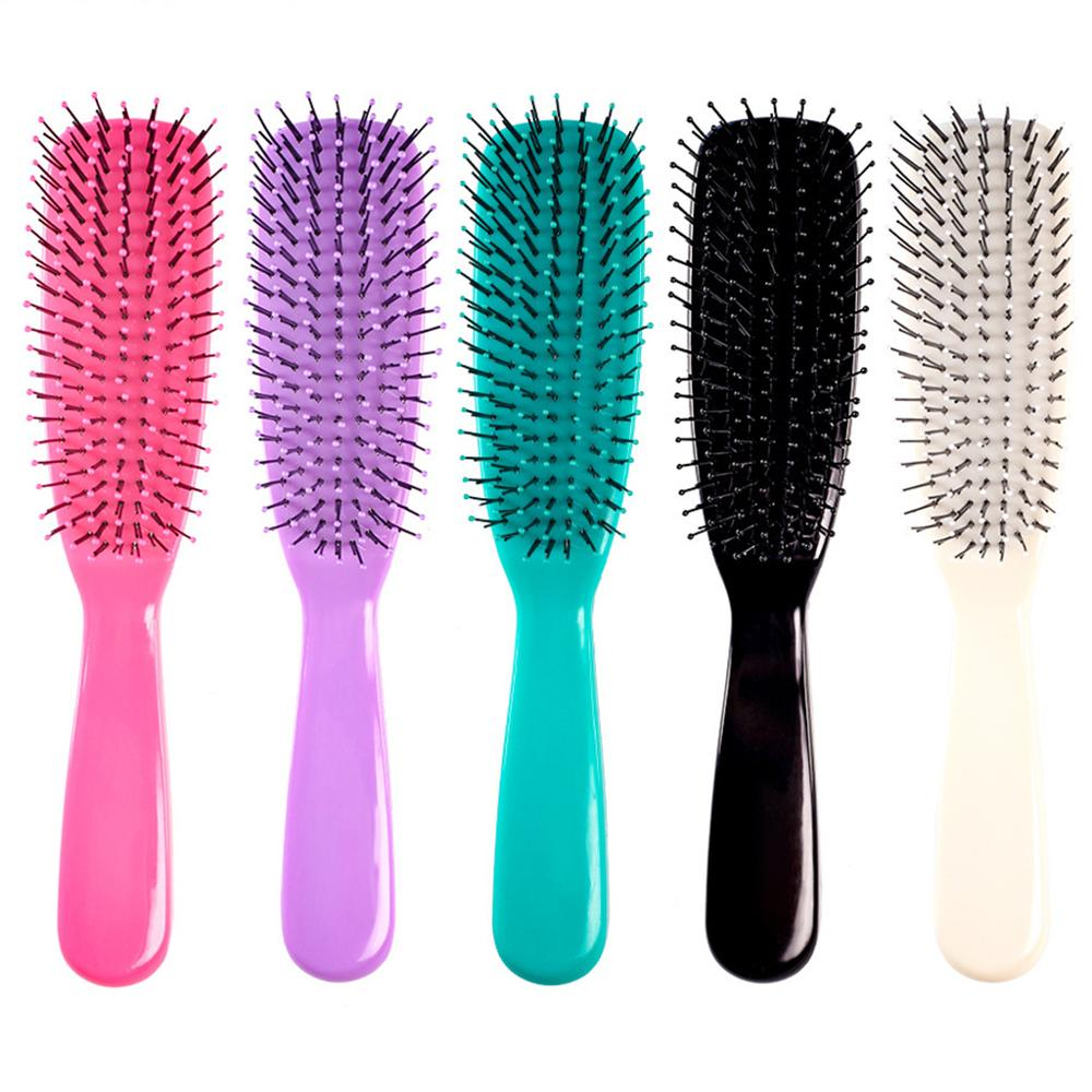 Women Men Detangling Hair Brush Ball Tipped Anti-Static Massage Scalp Reduce Frizz Nylon Bristle Comb Salon Styling Tool