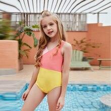 2021 одежда для малышей девочек Купальник цельный сплошной купальники