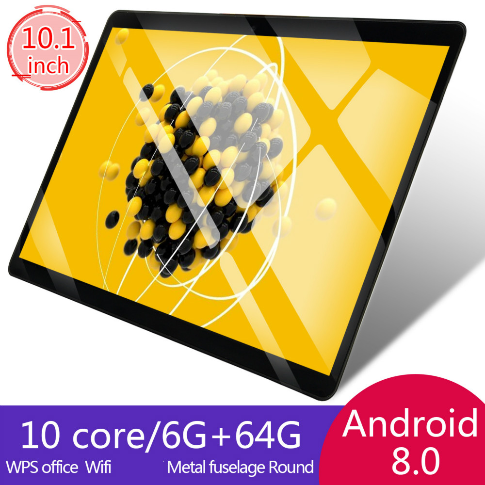 6G+64G/16G  2.5D Glass 10 Inch 4G LTE Tablet Pc Android8.0 Octa Core PC Tablets Resolving Power 8MP 5000mAh