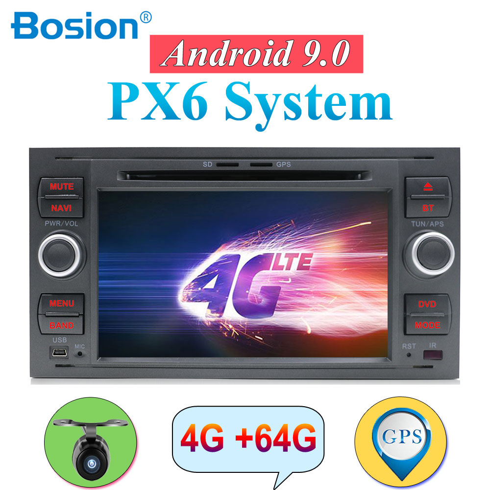 2 din android 9.0 Octa Cores car dvd <font><b>gps</b></font> for <font><b>ford</b></font> for <font><b>focus</b></font> 2/mondeo/s <font><b>max</b></font>/<font><b>c</b></font>-<font><b>max</b></font>/fusion/fiesta/transit radio head unit canbus image