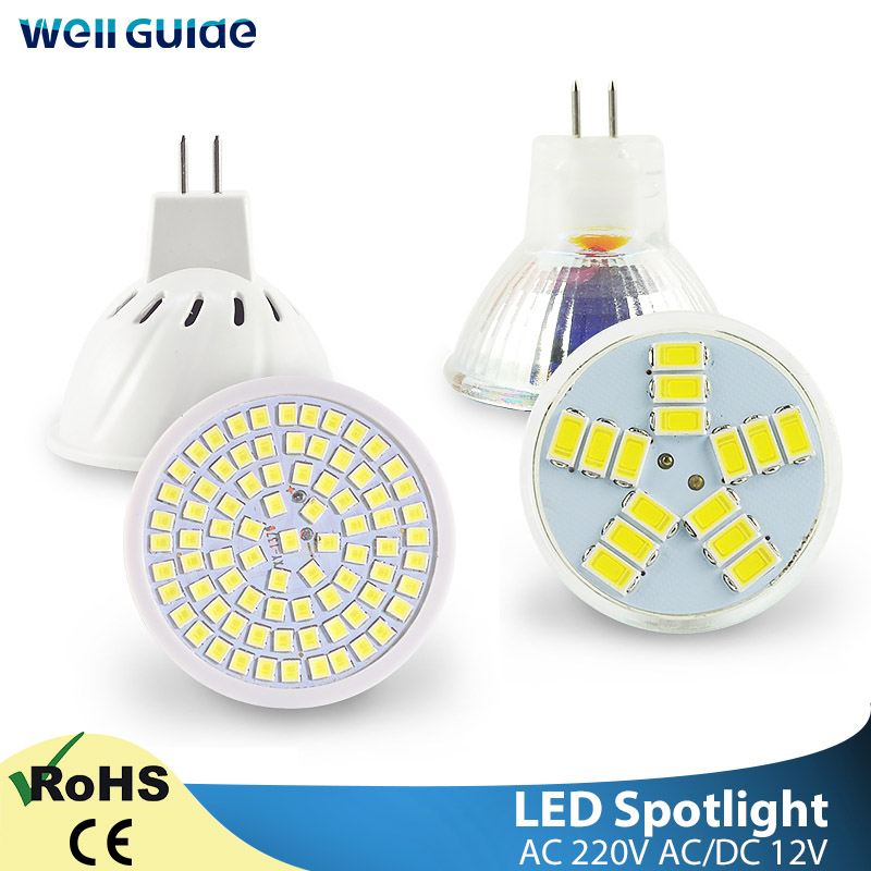 LED MR16 LampSpotlight MR11 6W AC/DC12V 220V 240V Bulb LED  SMD 2835 Lampada Spot Light Decoration Ampoule Warm White Cold White