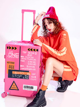 Personality Student Universal Wheel Trunk Woman 20 Inch Light Travel Case Pink Colour Girl Pull Rod Box
