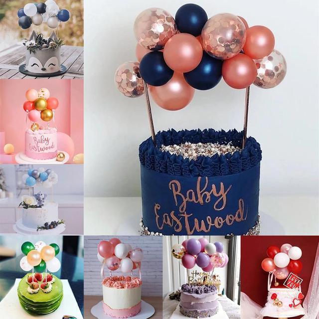 14 pièces confettis ballon gâteau Topper anniversaire gâteau Topper ballon décor de mariage gâteau un 1 anniversaire fête décor enfants bébé douche