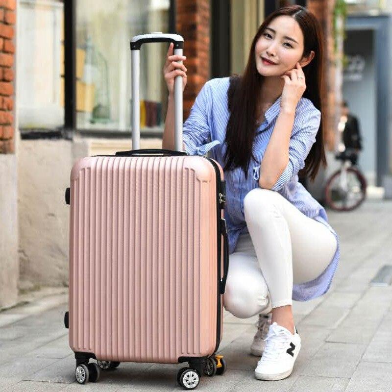 Коробка на колесиках, Универсальный Мужской чемодан, Ins, сетка, Красный, Женский студенческий багаж для путешествий, пароль, кожаная коробка,