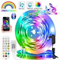 Direccionable color de sueño Led de Bluetooth de WS2811 12V TV retroiluminación para habitación lámpara de noche Ledstrip RGBIC luminosa Flexible cinta