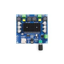 Digital Power Amplifier Board Tda7498 XH-A105 Bluetooth 5.0 2 Channel DC12-24V Stereo Audio Module 2*100w Support AUX TF Card