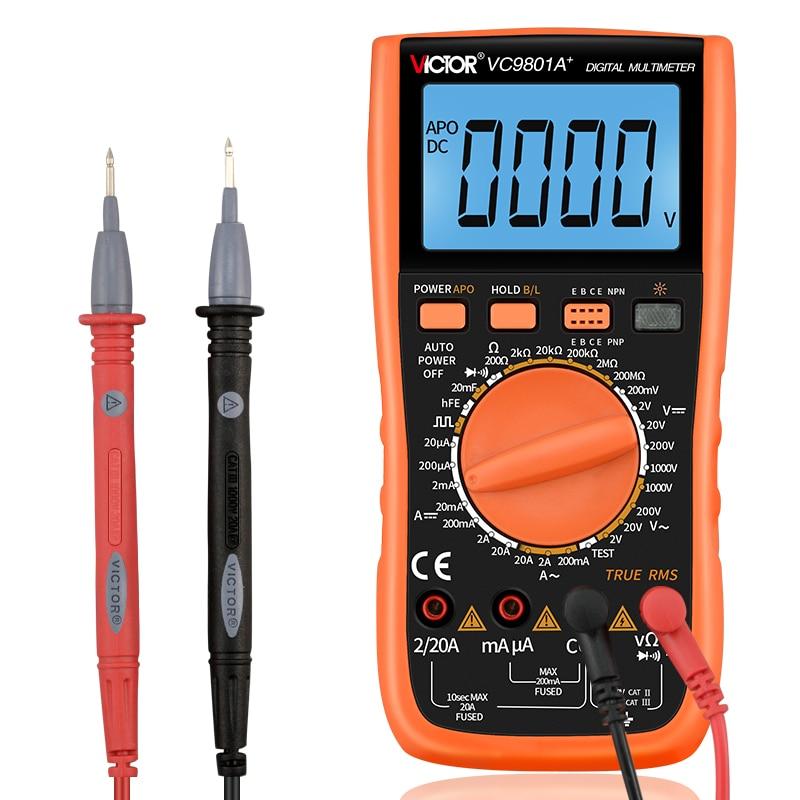 Цифровой мультиметр VICTOR VC9801A +, измеритель емкости, емкости, сопротивления постоянного и переменного тока, диодный транзистор, амперметр, во...