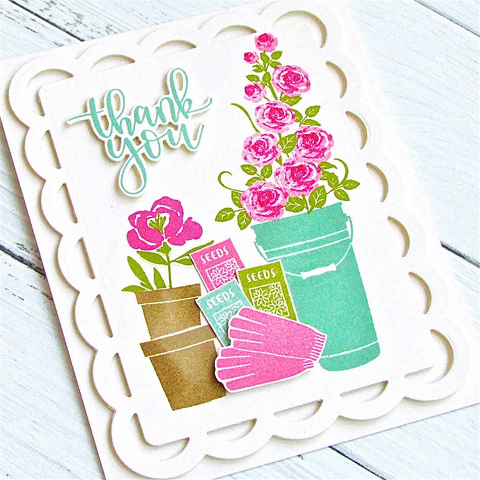 DiyArts Community Garden Clear Stamps Dies Scrapbooking Card Making Embossing Stencil Die Cut Paper Album Decoration