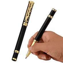 Роскошная деловая офисная ручка, полые металлические шариковые ручки для студентов, письма в школу, канцелярские принадлежности 03750