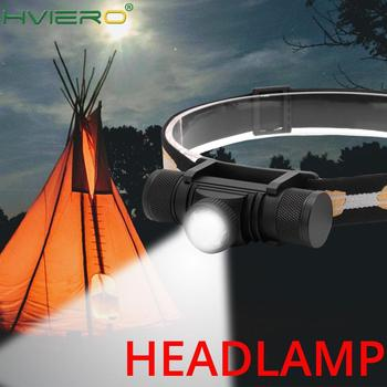 HVIERO Zoomable LED Headlamp Flashlight USB Rechargeable Headlight Portable Waterproof Camping Hunting Head Torch Light 18650