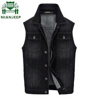 Men Denim Vest Brand Motorcycle Style Mens Sleeveless Jacket Waistcoat Men's Jean Coat Ripped Slim Fit Male Cowboy Vest M 3XL