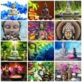 HUACAN 5D DIY Алмазная вышивка Будда религия подарок ручной работы мозаика Живопись Полн ое квадратное сверло