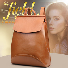 Luxury backpack women large capacity outdoor travel leather female vintage pure color designer shoulder bags fashion
