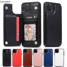 Funda billetera de lujo para iphone 5 5S 6 6s 7 8 Plus Funda de cuero con soporte de tarjeta trasera para iphone X XR XS Max 11 Pro Max teléfono cubierta Capa