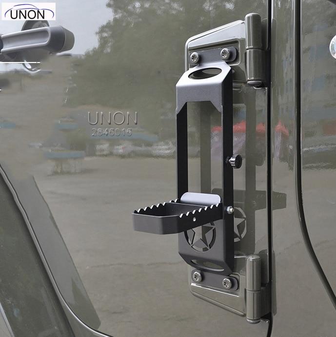 Автомобильная Складная дверная петля ножная педаль Peg отдых для Jeep для Wrangler JK 2007-2017 2/4dr дверная петля ступенчатый Металл Складная ножка Peg Matel