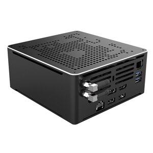 Image 2 - 2 Lans جهاز كمبيوتر صغير إنتل كور i9 9880H 8 النوى 16 المواضيع الألعاب كمبيوتر مكتبي 2 * DDR4 2 * M.2 NVMe Win10 برو 4K HTPC HDMI DP نوع C
