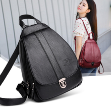 New 2019 Women Leather Backpacks Vintage Winter Female Backpack Ladies Travel  Shoulder Back Bag Mochila School Bags For Girls