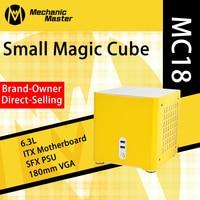 Mechaniker Master MC18-Magic Cube Mini ITX Computer Fall GAMING PC Gabinete Computador