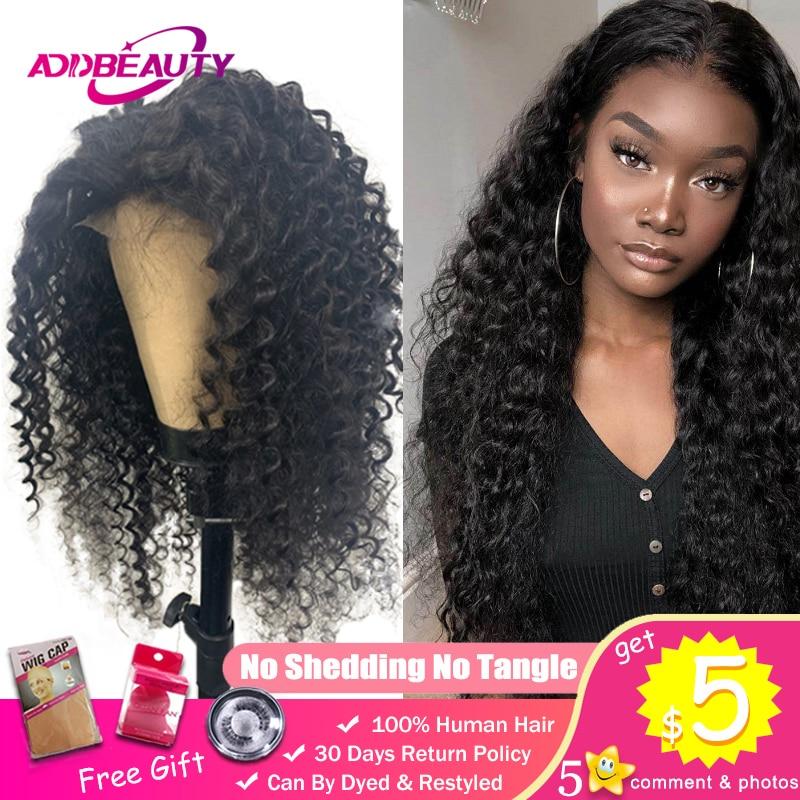 Deep Wave 4x4 Lace Closure Wig Preplucked 13x4 Lace Frontal Wigs For Black Women Virgin Hair Brazilian Custom DIY 150% Density