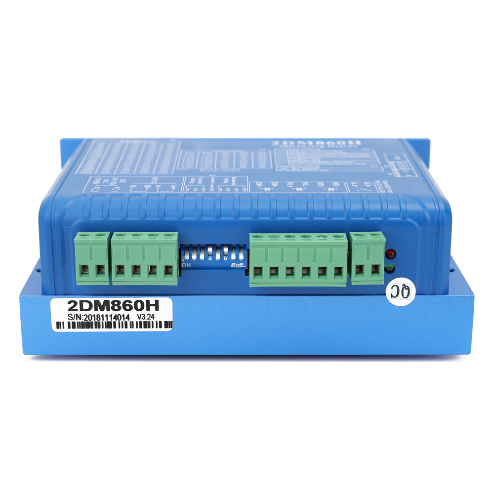 Digital 2DM860H Two Phase Controller Stepper Motor Microstep Driver Smooth Movement Low Noise High Speed Torque Compensation