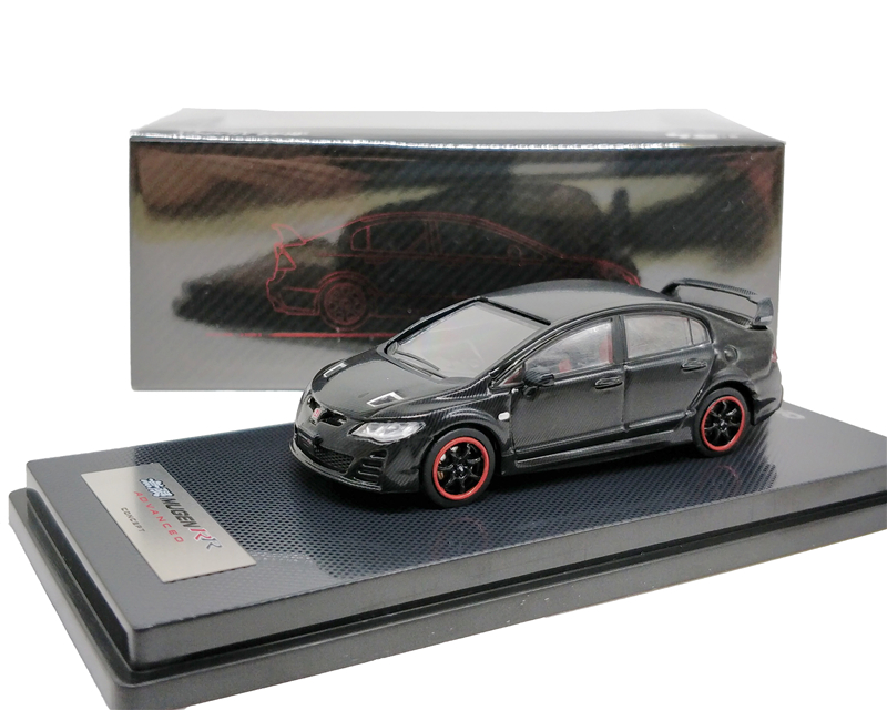 1:64 INNO64 Honda Civic Type Mugen RR FD2 Advance Concept 2009 Black Diecast Model Car