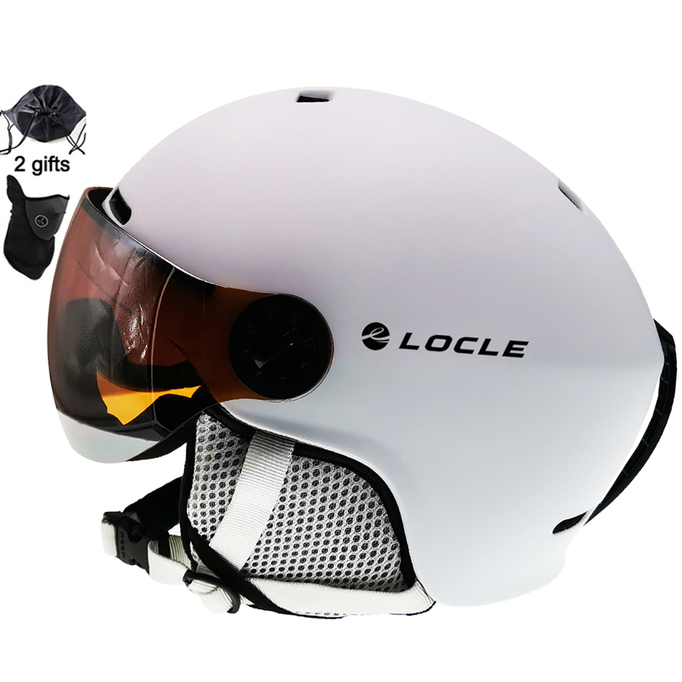 LOCLE Goggles Visor Snow-Helmet Ski Ce-Certification Women Child Skiing with PC  title=