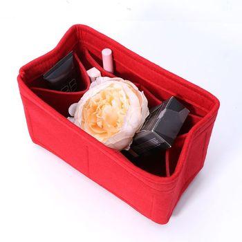 New Multifunction Women Felt Insert Bag Makeup Cosmetic Bags Travel Inner Purse Portable Handbag Storage Organizer Tote S/M/L 2