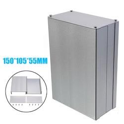 1 Stuk Zilver Aluminium Instrument Behuizing Case Aluminium Doos Printplaat Elektronische Project Case Diy 150*105*55mm