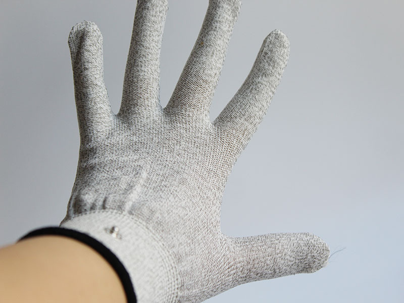 Electrical Shock Massager Silver Fiber Therapy Electrode <font><b>Glove</b></font> <font><b>Electro</b></font> <font><b>Gloves</b></font> Exotic Accessories Conductive <font><b>Gloves</b></font> <font><b>Sex</b></font> Toys image