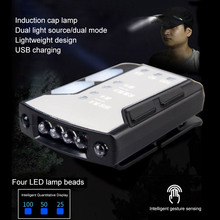 4*LED Hat Light Clip on light Fishing head lamp Rechargeable double source Clip-on Cap Head Lamp Camp
