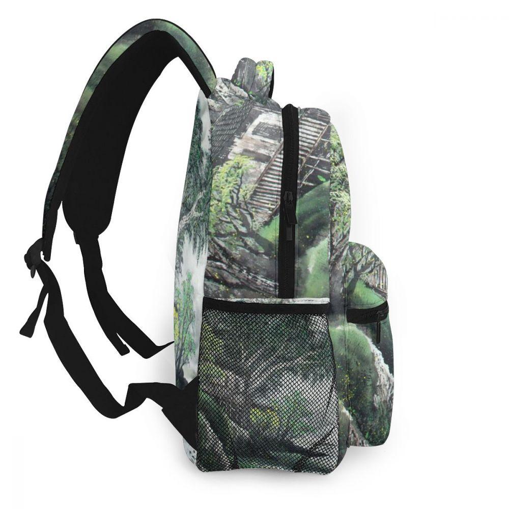 Whereisart montanhas árvores tinta mochila mochila crianças