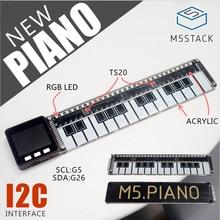 M5Stack 公式ピアノボードのアクリル rgb led ライト TS20 I2C arduino の blockly ESP32 開発ボード幹