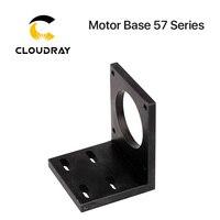 Cloudray base do motor para 57 stepper motor de alumínio fixo assento fixador suporte de montagem|Peças p/ máquinas de trabalho em madeira|Ferramenta -
