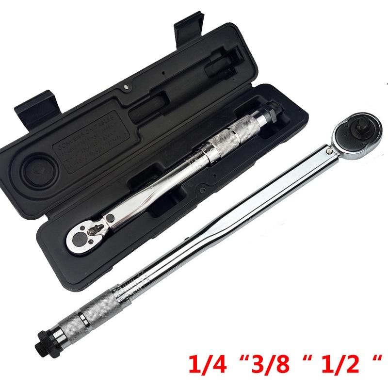 1/4 3/8 1/2 스퀘어 드라이브 토크 렌치 드라이브 양방향 정밀 메커니즘 렌치 핸드 툴 스패너 토크 미터 프리셋 래칫